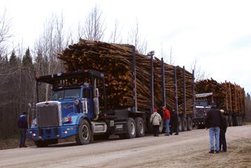 Camion forestier planétaire